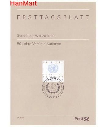 Niemcy 1995(22) Mi  Pierwszy dzień wydania