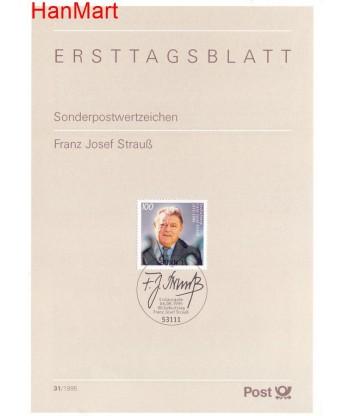 Niemcy 1995(31) Mi  Pierwszy dzień wydania