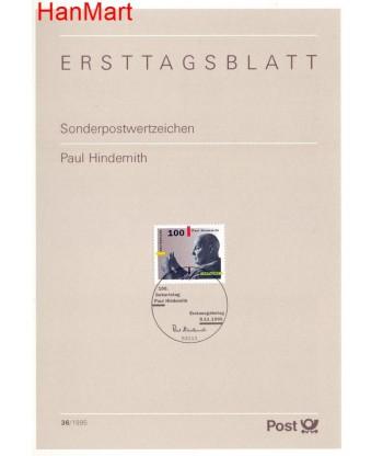 Niemcy 1995(36) Mi  Pierwszy dzień wydania