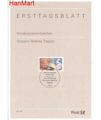 Niemcy 1996(8) Mi  Pierwszy dzień wydania