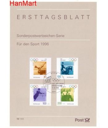 Niemcy 1996(18) Mi  Pierwszy dzień wydania
