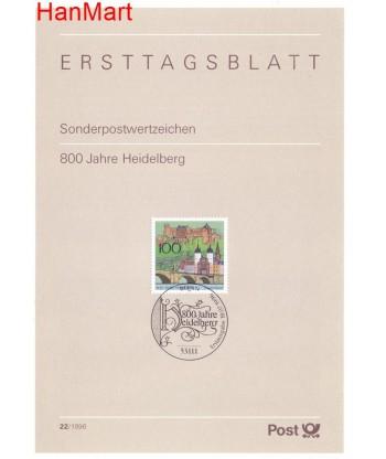 Niemcy 1996(22) Mi  Pierwszy dzień wydania