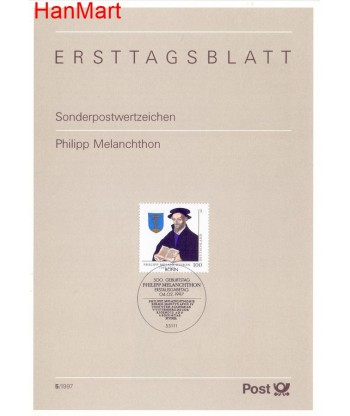 Niemcy 1997(5) Mi  Pierwszy dzień wydania