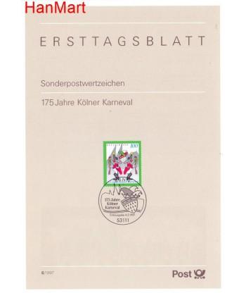 Niemcy 1997(6) Mi  Pierwszy dzień wydania