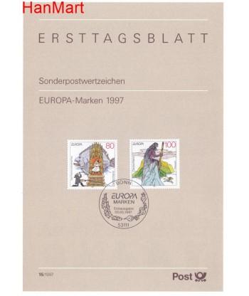 Niemcy 1997(15) Mi  Pierwszy dzień wydania