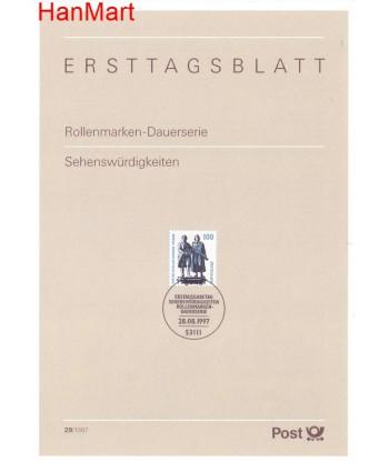 Niemcy 1997(29) Mi  Pierwszy dzień wydania