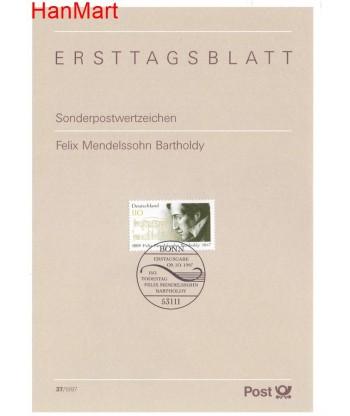 Niemcy 1997(37) Mi  Pierwszy dzień wydania