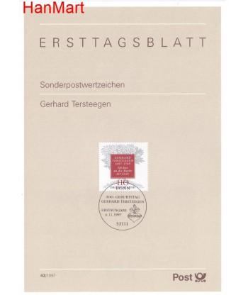 Niemcy 1997(43) Mi  Pierwszy dzień wydania