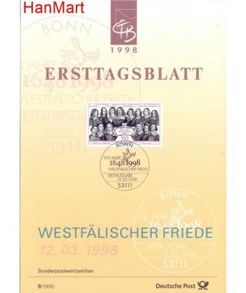 Niemcy 1998(9) Mi  Pierwszy dzień wydania