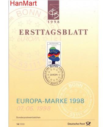 Niemcy 1998(14) Mi  Pierwszy dzień wydania