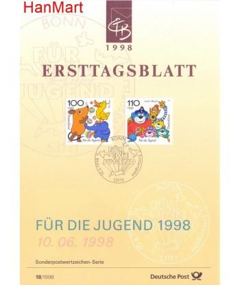 Niemcy 1998(18/18a) Mi  Pierwszy dzień wydania