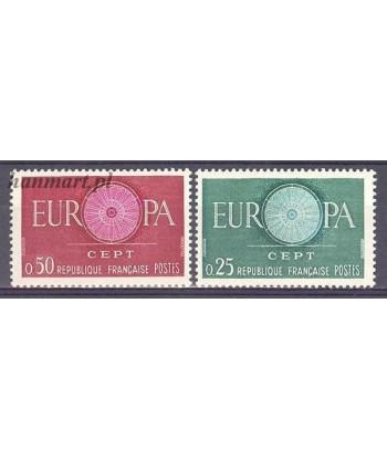 Francja 1960 Mi 1318-1319 Czyste **