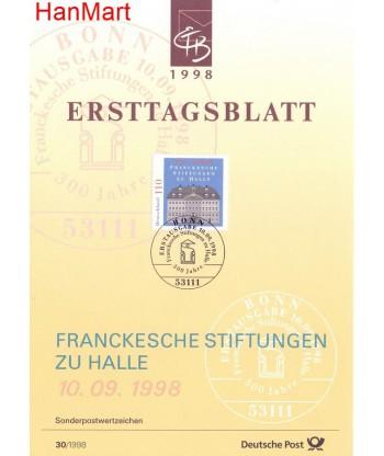 Niemcy 1998(30) Mi  Pierwszy dzień wydania