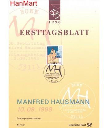 Niemcy 1998(31) Mi  Pierwszy dzień wydania