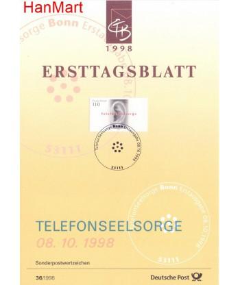 Niemcy 1998(36) Mi  Pierwszy dzień wydania