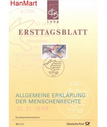 Niemcy 1998(40) Mi  Pierwszy dzień wydania