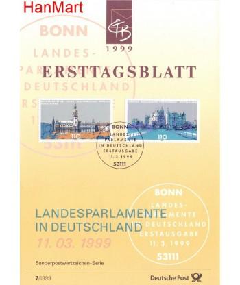 Niemcy 1999(7) Mi  Pierwszy dzień wydania