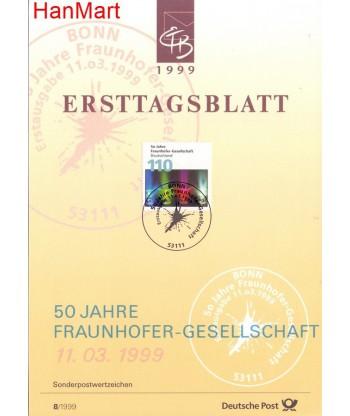 Niemcy 1999(8) Mi  Pierwszy dzień wydania