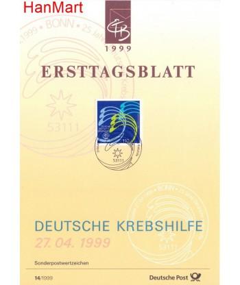 Niemcy 1999(14) Mi  Pierwszy dzień wydania