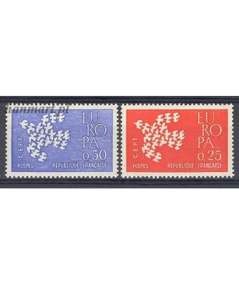 Francja 1961 Mi 1363-1364 Czyste **