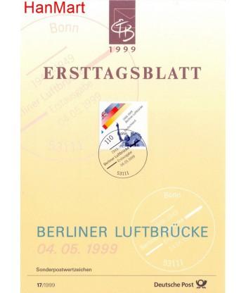 Niemcy 1999(17) Mi  Pierwszy dzień wydania