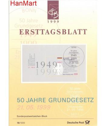 Niemcy 1999(19) Mi  Pierwszy dzień wydania