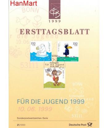 Niemcy 1999(21/21a) Mi  Pierwszy dzień wydania
