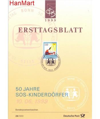 Niemcy 1999(24) Mi  Pierwszy dzień wydania