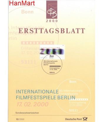 Niemcy 2000(13) Mi  Pierwszy dzień wydania