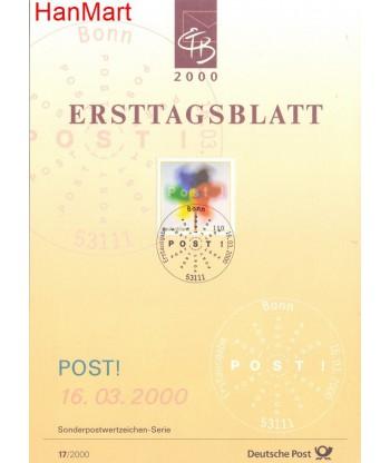 Niemcy 2000(17) Mi  Pierwszy dzień wydania