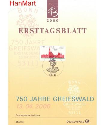 Niemcy 2000(21) Mi  Pierwszy dzień wydania