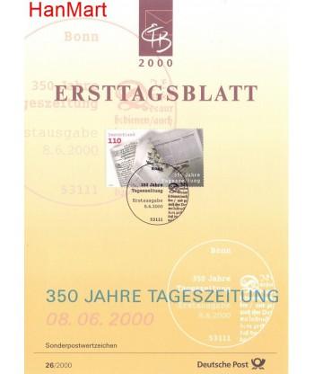 Niemcy 2000(26) Mi  Pierwszy dzień wydania