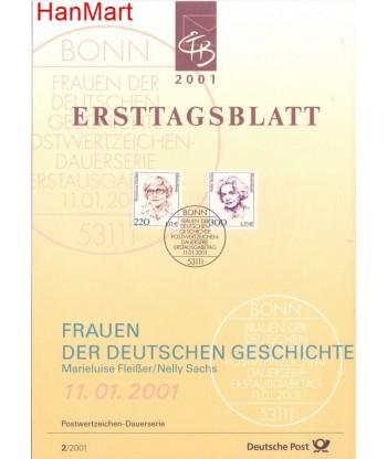 Niemcy 2001(2) Mi  Pierwszy dzień wydania
