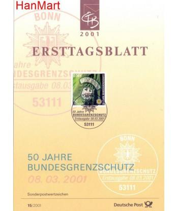 Niemcy 2001(15) Mi  Pierwszy dzień wydania