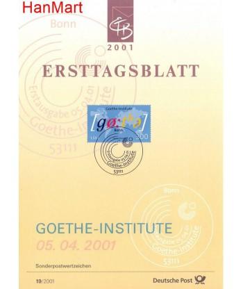 Niemcy 2001(19) Mi  Pierwszy dzień wydania