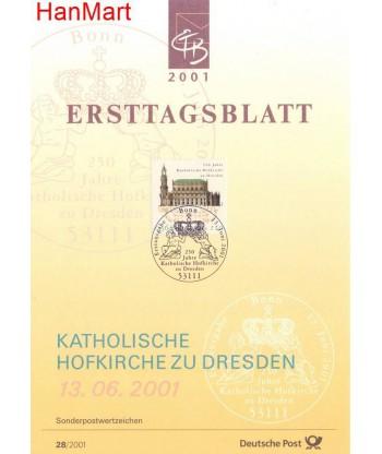 Niemcy 2001(28) Mi  Pierwszy dzień wydania