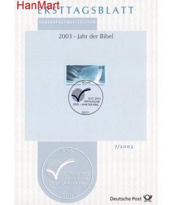 Niemcy 2003(7) Mi  Pierwszy dzień wydania
