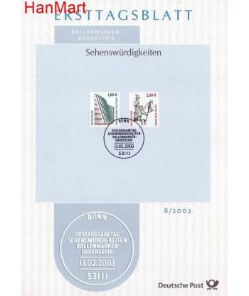 Niemcy 2003(8) Mi  Pierwszy dzień wydania