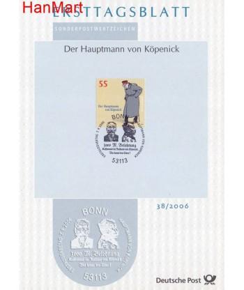 Niemcy 2006(38) Mi  Pierwszy dzień wydania