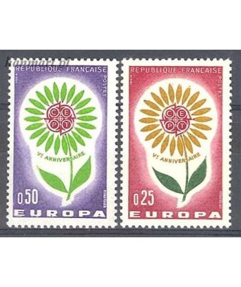 Francja 1964 Mi 1490-1491 Czyste **