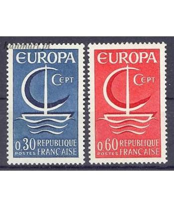 Francja 1966 Mi 1556-1557 Czyste **