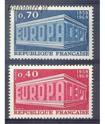 Francja 1969 Mi 1665-1666 Czyste **