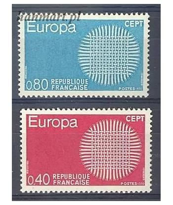 Francja 1970 Mi 1710-1711 Czyste **