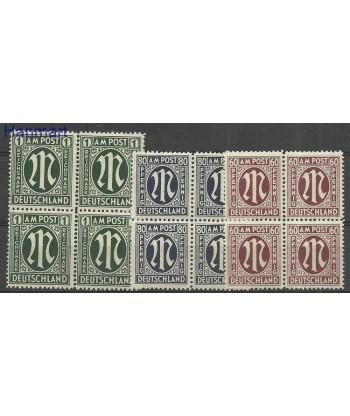 Niemcy 1954 Mi 194-196 Czyste **