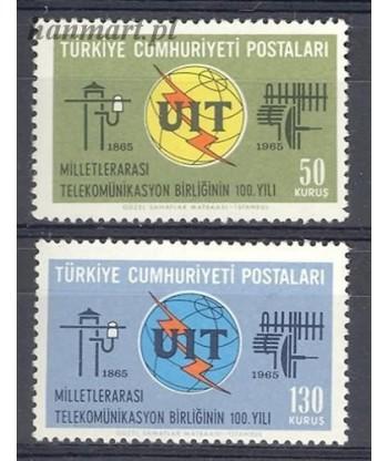 Turcja 1965 Mi 1949-1950 Czyste **