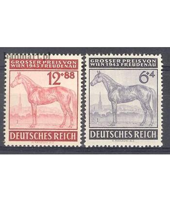 Deutsches Reich / III Rzesza 1943 Mi 857-858 Czyste **