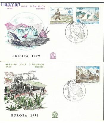 Monako 1979 Mi 1375-1377 FDC