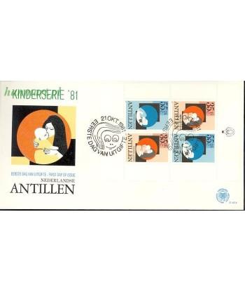 Antyle Holenderskie 1981 Mi bl 18 FDC