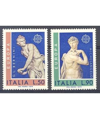 Włochy 1974 Mi 1440-1441 Czyste **