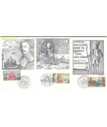 Francja 1970 Mi 1726-1728 Karta Max